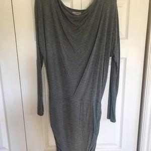 Athleta gray long sleeve dress